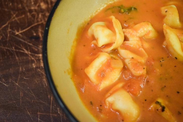 Tortellini Soup Bowl Top